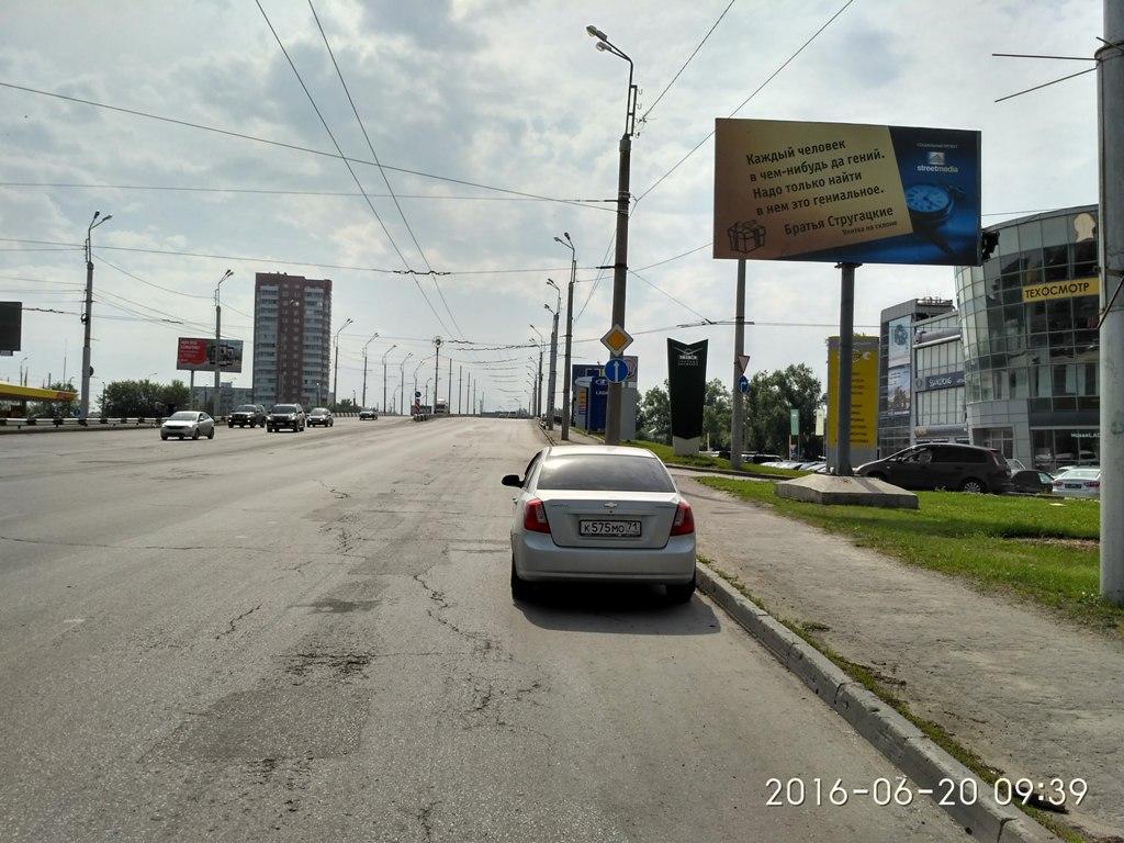 пр. Победы, съезд на ул.Беляева (район пр.Победы,45) (1)