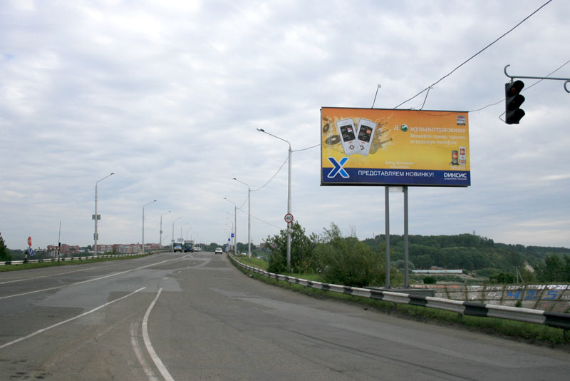 Въезд в город со стороны Новосибирска (пост ГИБДД)