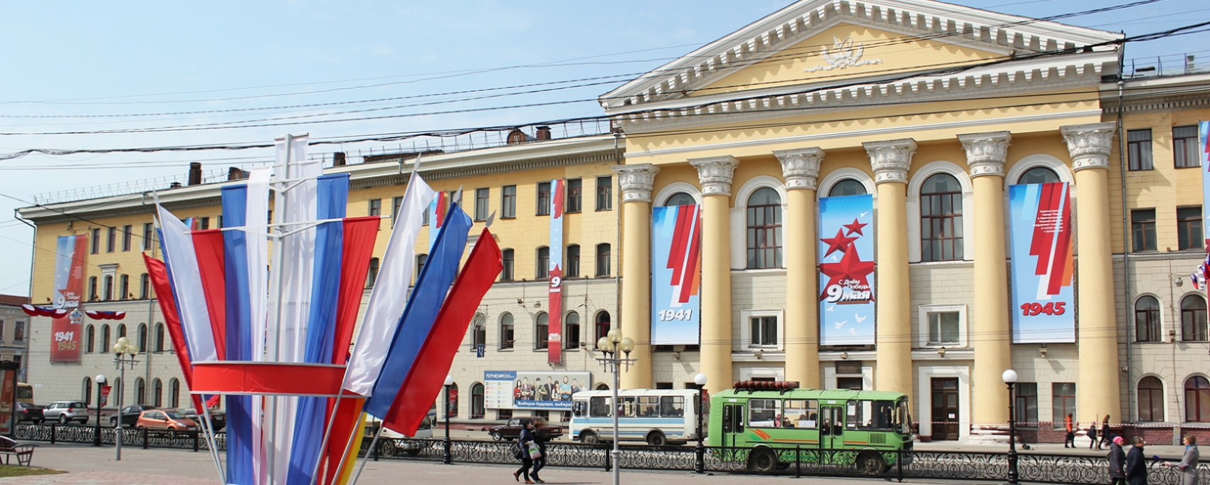 Комплексное оформление города, оформление фасада, 9 мая