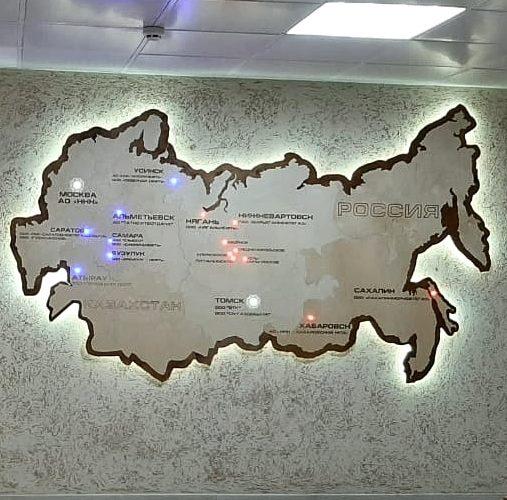 деревянная карта россии